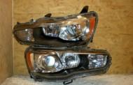 Predné xenónové svetlo na Mitsubishi Lancer Evo X