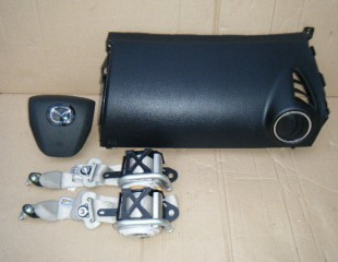 Airbag vodiča, spolujazdca, bezpečnostné pásy na Mazda CX-7 CX7 facelift