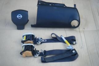 Airbag vodiča, spolujazdca, bezpečnostné pásy na NISSAN NOTE
