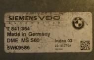Riadiaca jednotka 7841364 5WK9586 na BMW M5 M6