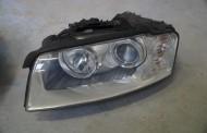 Predné xenónové svetlo na Audi A8 D3