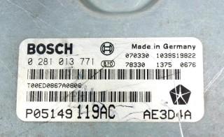 Riadiaca jednotka 0281013771 P05149119AC na Chrysler 300C 3,0 CRD
