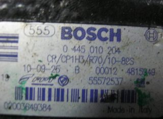 Vstrekovacie čerpadlo 0445010204 55572537 na Opel Corsa Combo Astra Meriva Agila 1,3 CDTi