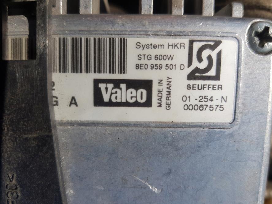 Modula ventillátora 8E0959501D Audi A4
