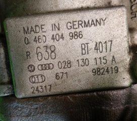 Vstrekovacie čerpadlo 0460404986 028130115A na vozidlá Audi VW Golf Passat  1,9 TDi