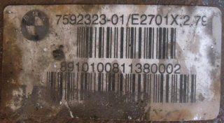 Zadný diferenciál na BMW 320D 325D E90 E91 7592323  75666195 2,79