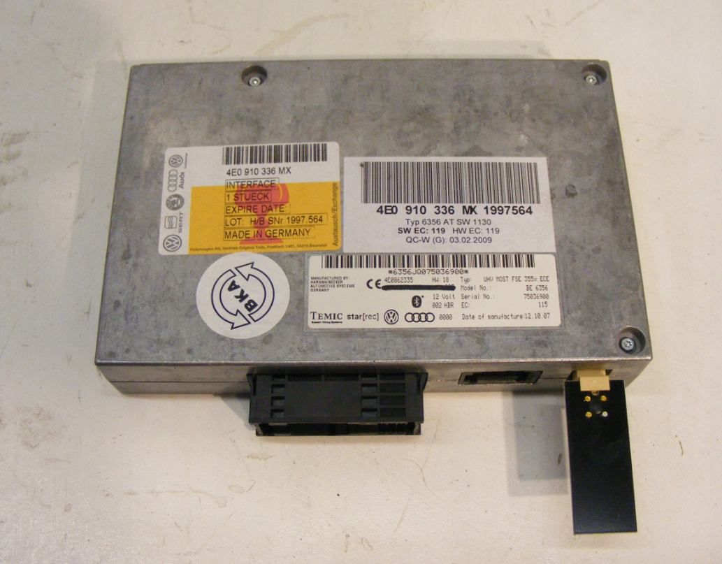 Riadiaca jednotka modul Bluetooth Audi Q7 Audi A4 A6 A8 4E0910336MX